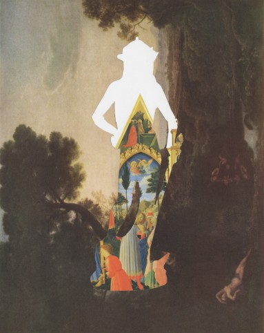 Chad Wys - Between Two Civilizations 1 - collage on paper