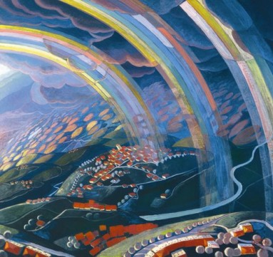 The Futurists Gerardo Dottori the-miracle-of-light-while-flying-1931
