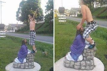 Teens-Jesus-statue-pics-earn-desecration-charge