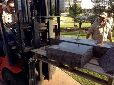 Ten Commandments Monument Destroyed