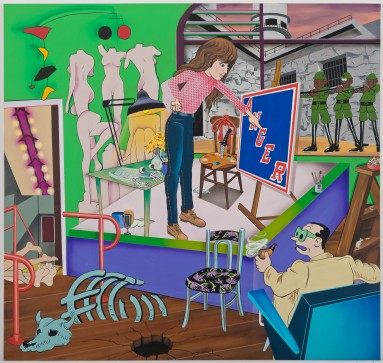 Paintings By Villani at Zach Feuer Gallery in Hudson NY