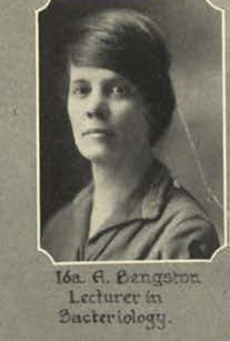 Dr. Ida Bengtson in 1925. 1926 Rollamo (MSM yearbook), p. 25. (Image out of copyright.)