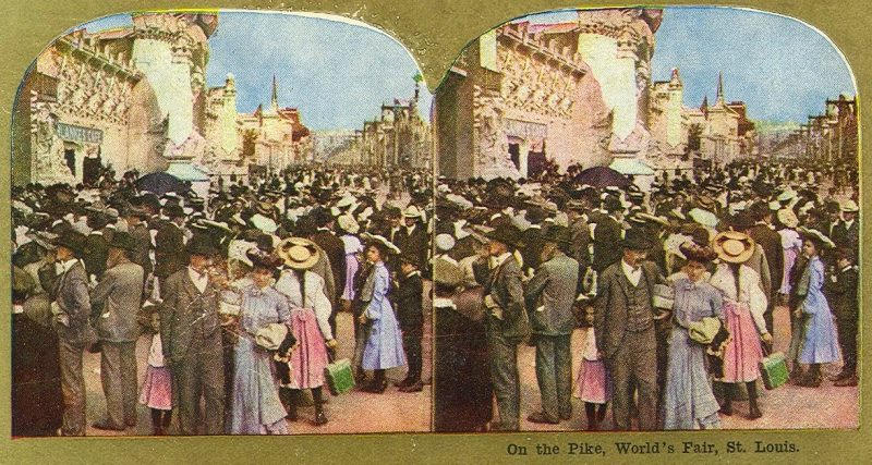 Stereocard of card at 1904 World's Fair