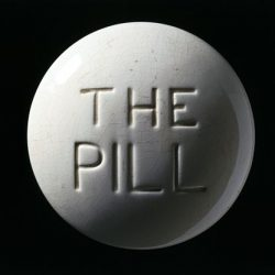 Model of a contraceptive pill, Europe, c. 1970.