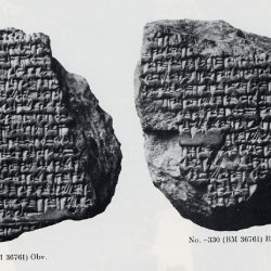 Clay cuneiform tablet showing an astronomical diary from 331BC